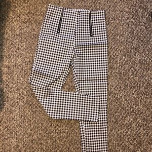 Pants - Zaful Black and White checkered pants